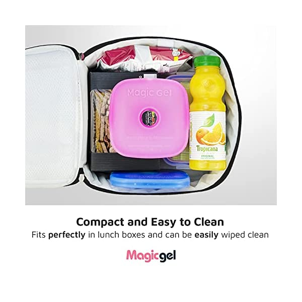 Magic Gel 5 x Ice packs for Lunch Bags and Lunch Boxes. Long Lasting, Reusable, Small and Thin. The Perfect Cooler for a…