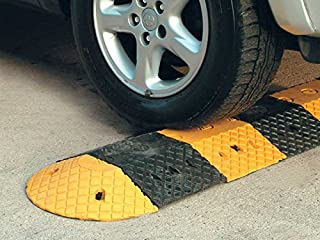 delibett 2PCS Curb Ramps Heavy Duty Rubber Kerb Ramps For Driveway Loading Dock Rubber Kerb Ramps For Wheelchairs Mobility Scooters Car Motorcycle Sidewalk
