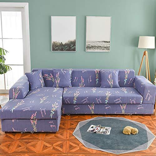 Ecksofa Eckcouch (2 Teiliges Set) L-Form-Stretch Sofabezüge Sofa Bezug Wohnkultur Strecken Sofaüberzug Staubdicht Weich Sesselbezug L Form Couch Für Schnitt Sofa D,190~230+235~300cm