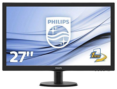 Philips 273V5LHAB/00 68,6 cm (27 Zoll) Monitor (VGA, DVI, HDMI, TN Panel, 1920 x 1080, 60 Hz, mit Lautsprecher) schwarz