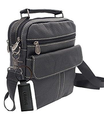 Charmoni - Sac pochette sacoche à bandoulière poignet et sa porte clé cuir en Cuir vachette véritable