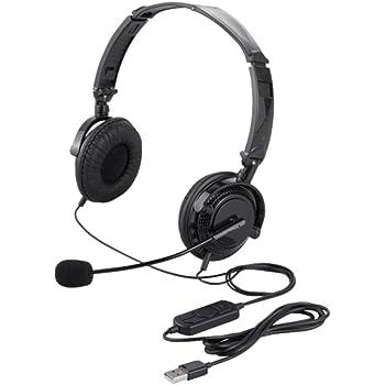 iBUFFALO 両耳ヘッドバンド式ヘッドセット USB接続/折りたたみタイプ ブラック BSHSUH13BK