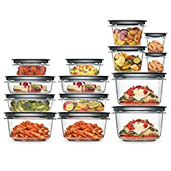top 10 cheap tupperware set Rubbermaid Meal Prep Premier Food Storage Container 28 Piece Set Gray