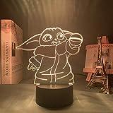 Star Wars Luz de noche LED 3D para decoración de dormitorio Lámpara de ilusión con alimentación por ...