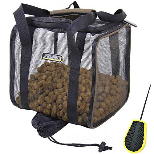Mega Fishing Dam MAD Clever Dry Bag Trockentasche/Boilietasche - Köder Tasche Futtertasche - Karpfen + Pelzer Boilie-Nadel