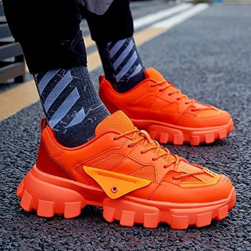 JFHGNJ Mannen Mode Schoenen Merk Trend Man Mode Sneaker Vulcanized Schoen-orange_8