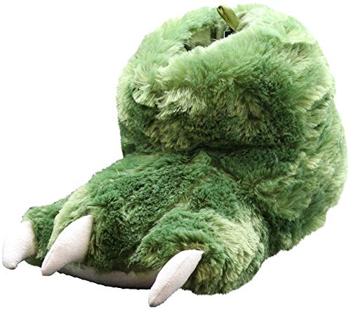 NORTY - Mens Big Foot Dinosaur Bootie Claw Slipper, Green 41537-Large