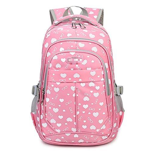 MLOPPTE Niños Mochilas escolares para niñas Mochila para niños Mochilas escolares Mochila escolar con cremallera Mochila de viaje para mujeres rosa