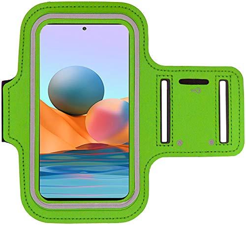 KP TECHNOLOGY Redmi Note 10 Pro Brazalete Case - Para Correr, Ciclismo, Senderismo, Piragüismo, Caminar, Equitación y otros Deportes para Xiaomi Redmi Note 10 Pro (VERDE)