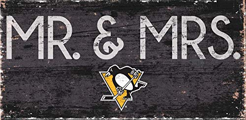 Fan Creations NHL Pittsburgh Penguins Unisex Pittsburgh Penguins Mr. & Mrs. Schild, Team-Farbe, 6 x 12
