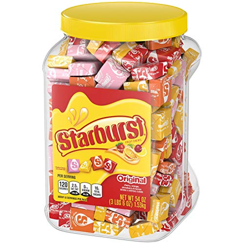 Starburst Mars Candy Original Fruit Chew, Party Size Jar candy, 54 Ounce