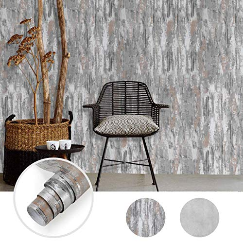 0.61 * 5M Beton Optik selbstklebende Tapete Modern verdickte Wandaufkleber Optik Dekoration DIY Wandtapete aus hochweitige PVC Struktur Premium Industrial inkl Tapete (Type B)