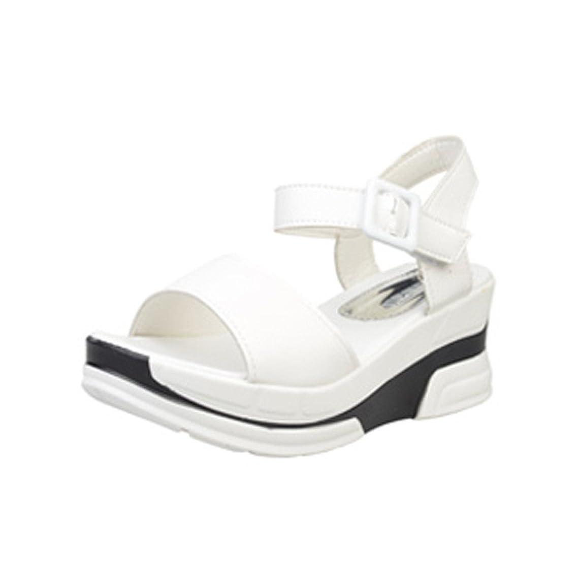 豪華な用心深いより良い[シューズ Foreted] サンダル フラット アンクルストラップ 美脚 フォーマル 厚底 おしゃれ 夏 歩きやすい コンフォート ウェッジソール ぺたんこ靴 可愛い