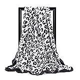 ZSZJ Sciarpa di Seta 2pcs Seta Sciarpa Quadrata Donne 90 cm Stampa foodscarf softcherchief Signora Scialle Wrap Silenzio silenziatore Bandana Femmina hijabs .Sciarpa Bib. (Color : 6, Size : One Size)