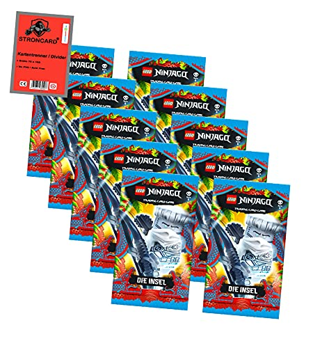 "Lego Ninjago Karten Trading Cards Serie 6 "" Die Insel"" ... 10 Booster"