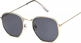 TYOLOMZ - TYOLOMZ Gafas de Sol Retro Negras para Hombre, Gafas cuadradas Vintage para Hombre/Mujer, Gafas de Sol de Lujo para Hombre, pequeño