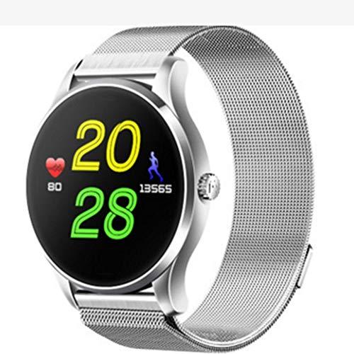 Reloj inteligente todo en 1 K88h Pantalla redonda Ips 4.0 Monitor de ritmo cardíaco plateado