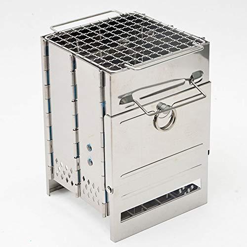 Hornillo de camping plegable portátil mini estufa de leña