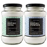 Leaf & Nectar Baking Soda & Baking Powder Combo - 250gm X 2 kitchen canisters Apr, 2021