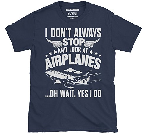Ich Tue nicht Immer Stop en kijk naar vliegtuig-t-shirt
