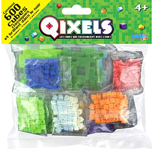 Qixels - Asmokids - Classic and Glow Cubes - Pack of 600 - Crafts - Boys Game