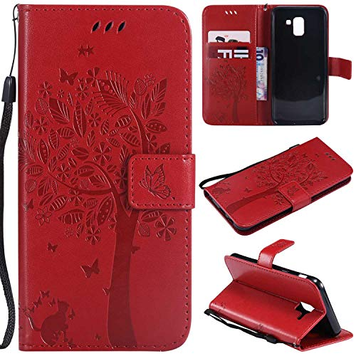 BoxTii® Coque Galaxy J6 2018, Galaxy J6 2018 Housse Coque, Etui pour Samsung Galaxy J6 2018 (#6 Rouge)