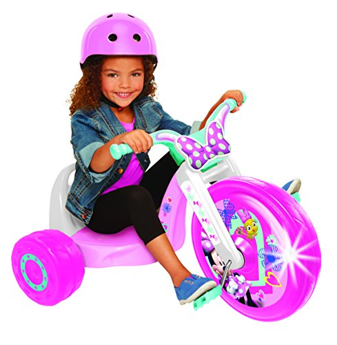 Minnie 15″ Fly Wheel Junior Cruiser, 1 Ride-on, Ages 3-7, Pink/White, 20″ W x 22.5″ H x 32.83″ L