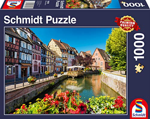 Schmidt Spiele 58359 Dörfchen mit Fachwerkhäusern, 1000 Teile Puzzle, Bunt