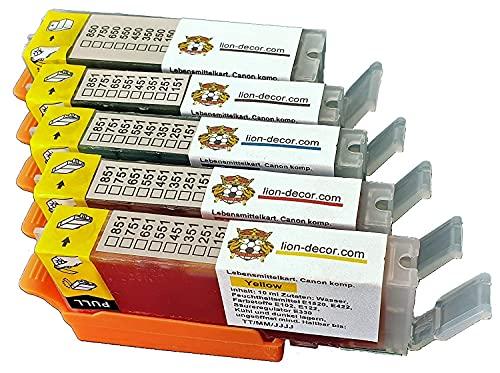 Set cartucce d inchiostro per uso alimentare con chip PGI-580 CLI-581 TK180 per stampanti Canon TR8550, TS705, TS6350, TS6250, TS6150, TS8250, TS8150, TS9550, TS6351, TS9155, TR850000000 , TR755. 0