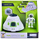 Space Capsule Toys for Kids with Lights & Openable Door & Astronaut Figure,Toy for Any Interstellar Mission Adventure, for Girls Boys