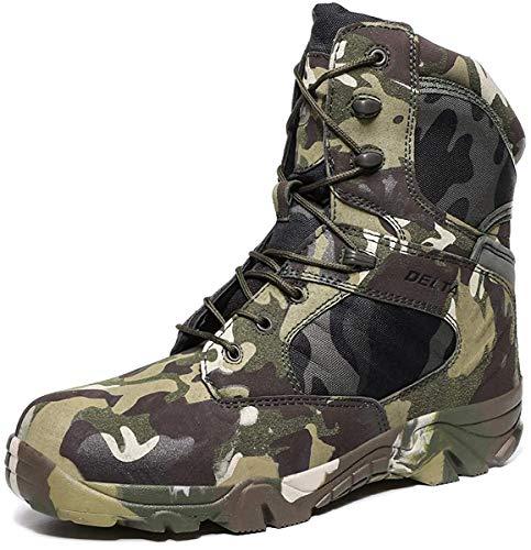 LiliChan Männer Taktische Stiefel Delta Side Einsatzstiefel Wasserdicht Boots Military Schuhe (47 EU, Tarnen)