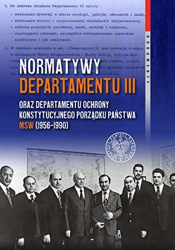 Normatywy Departamentu III oraz Departamentu...