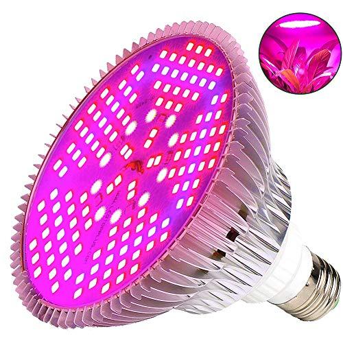 JZH Pflanzenlampe LED 100W Pflanzenlicht Grow Lampe E27 150 LEDs Wachstumslampe Vollspektrum Für Gewächshäusern Garten Innengärten Zimmerpflanzen Hydroponische