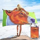 mengmeng Basenji - Toalla de secado rápido naranja quemado para deportes, gimnasio, viajes, yoga, camping, natación, súper absorbente, compacta, ligera toalla de playa