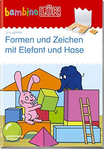 bambinoLÜK-Übungshefte: bambinoLÜK: 2/3/4 Jahre: Formen und Zeichen mit Elefant und Hase: Vorschule / 2/3/4...