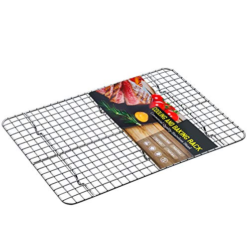 Cooling Racks for Cooking and Baking,Estmoon Stainless Steel Wire Rack,15 Inch Heavy Duty Baking Rack Fits Baking Sheet,Rust-Resistant Rack for Roasting Grilling Drying,Oven &Dishwasher Safe
