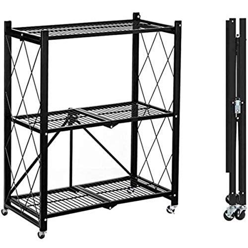 Himimi 6-Tier Wire Shelving Unit, Free Standing Shelf, Metal Storage Shelves, Heavy Duty Organizer Rack for Garage, Kitchen, Living Room, Bathroom, 21.26L x 11.42W x 62.99H, Black
