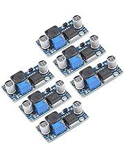QLOUNI LM2596 DC a DC Buck Converter 3.0-40V a 1.5-35V Fuente de alimentación Módulo Reductor, 6 Piezas