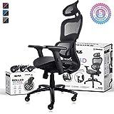 NOUHAUS Ergo3D Ergonomic Office Chair - Rolling Desk Chair with 4D Adjustable Armrest, 3D Lumbar...