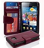 Cadorabo Coque pour Samsung Galaxy S2 / S2 Plus en ORCHIDÉE Violets – Housse Protection avec Fermoire Magnétique et 3 Fentes Cartes – Portefeuille Etui Poche Folio Case Cover