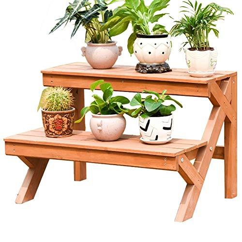 DS Blumenständer Pflanzenständer Blume Ausstellungsstand, 2 Tier Schreibtisch Regalständer Bambus Bonsai Werkzeuge Regal (Size : A)