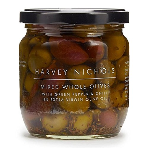 Harvey Nichols Mixed Limited time for free shipping Whole Olives With 4 Chilli National products And Green Pepper