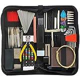 mygiikaka 72 ppezzi kit di strumenti di riparazione per chitarra,kit di strumenti di manutenzione per la riparazione della chitarra con borsa per il trasporto,perfetto per chitarra ukulele bass mandol