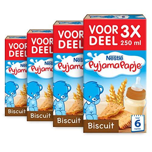 Nestlé Pyjamapapje Biscuit 6+ maanden babypap - 4 doosjes van 3 pappen