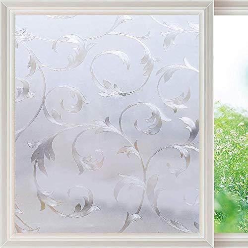 LMKJ Película de Ventana de protección de privacidad Opaca, película de Vidrio 3D estática no Adhesiva, Etiqueta de Vidrio Anti-Ultravioleta extraíble A28 60x100cm