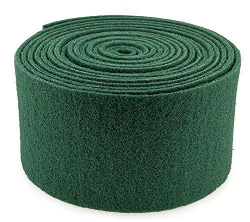 YMBERSA Rollo Estropajo Fibra Abrasiva 15 Centímetros 6 Metros. Color Verde. Limpieza Profesional