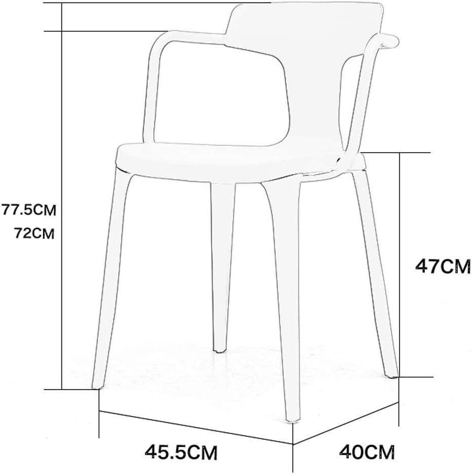 Chaise salle à manger, Chaise longue Salon Chambre Ordinateur moderne Bureau Café Réunion Comptoir Chaise haute avec dossier (Color : Coffee) Coffee