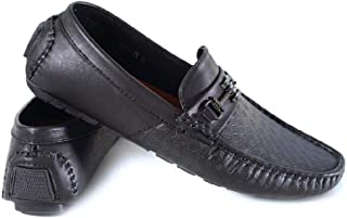 Moc 45 Slip-On Moccasins Detail, Black, 9.5 UK / 10.5 US