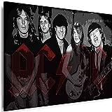 Myartstyle - Bilder AC/DC Band 70 x 50 cm Leinwandbild XXL
