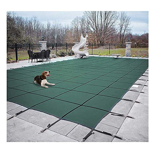 ZJM Green Deluxe Winter Safety Pool Cover, Rectangle in-Ground & Above-Ground Swimming Pools for Secure Installation, 200kg Load (Size : 4x7m)